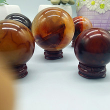 40-60mm Decorative ball preferred natural red agate crystal feng shui home decoration