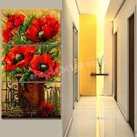 5d diy diamond painting poppy home decoration painting 3D diamond embroidery rhinestone sticker kit red flowers