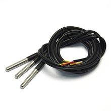 5 шт./лот DS18B20 посылка из нержавеющей стали 1 м водонепроницаемый DS18b20 датчик температуры 18B20