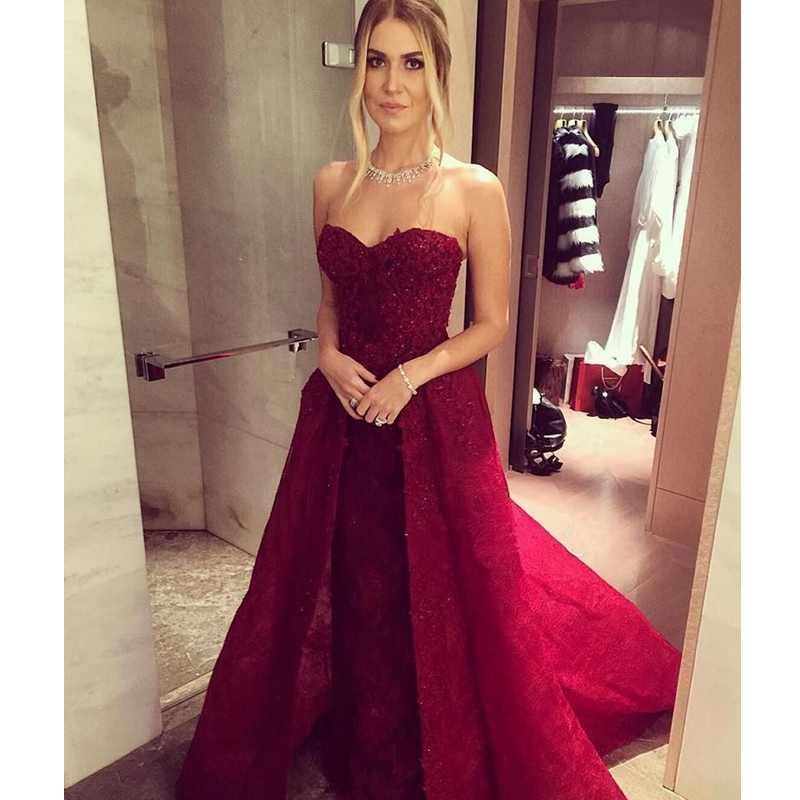 Aliexpress.com : Buy 2017 Appliques Dark Red prom Gowns very Sexy ...