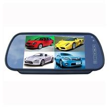 цена на 7 inch Car Rear View Mirror Monitor 4Ch Video input Split Quad Display Color Screen 9-36V