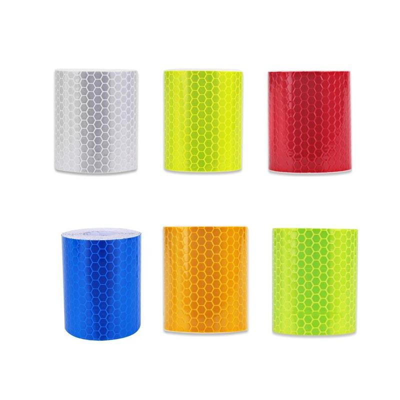 5cm X 3m Safety Mark Reflective Tape Sticker Car Styling Self Adhesive Warning Tape Automobiles Motorcycle Reflective Strip