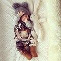 2016 MINII RODINI тигр комбинезон панда шаблон мальчик одежды vestidos enfant гарсон bos девочка одежды kikikids мода