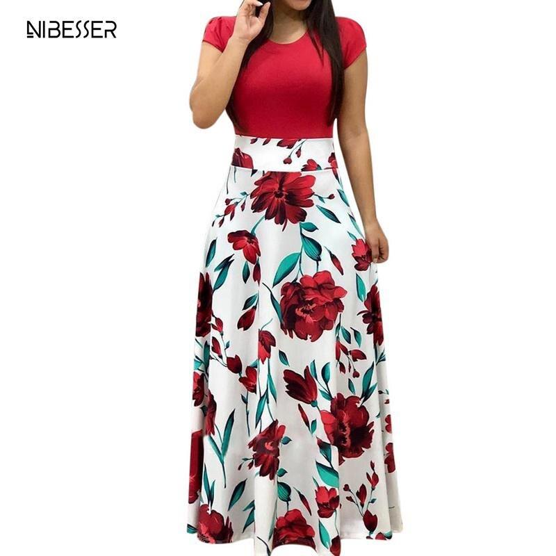 Vestido Lápiz Largo Ajustado Estampado Flores Br8a85a24