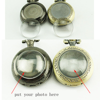 10 pcs/lot DIY Hand making Antique Bronze Pocket Watches FOB Watches Men Women Gift Pocket With Chain High Quality Wholesale