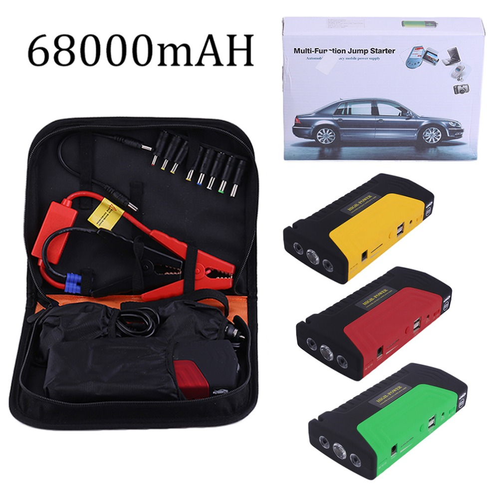 68000mah 400A Multifunctional Portable Car Auto Emergency Start Car Jump Starter Power Bank With Three Lights Engine Booster