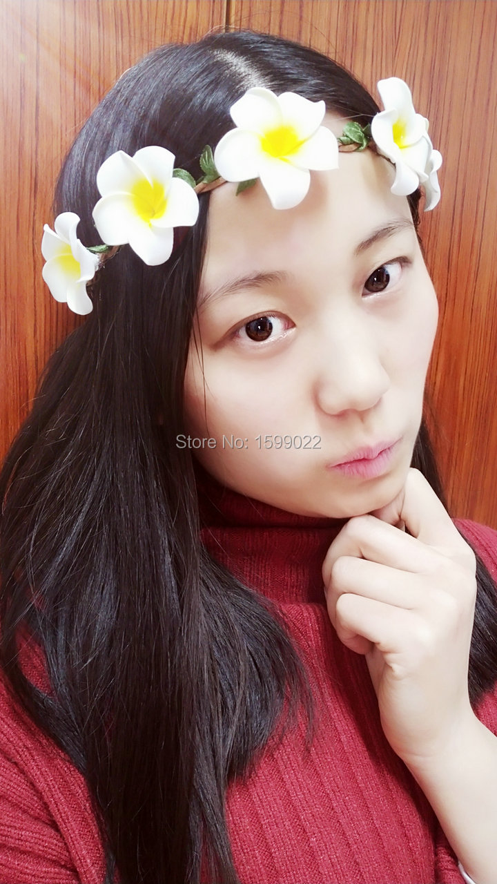 Aliexpress Buy Artificial Plumeria Flowers Headband Foam