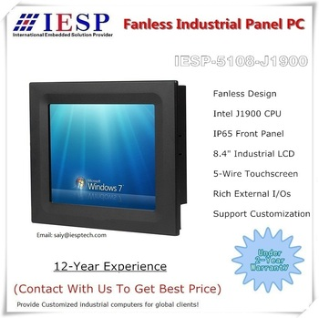 8.4 inch industrial panel pc, J1900 CPU, 4GB RAM, 32GB SSD, fanless touch panel pc, industrial HMI, OEM/ODM