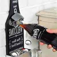 Бутылка пива деревянная открывалка настенный пивной нож винтажный домашний бар кофейня Ресторан украшение вино Кухня консервный нож инстр...