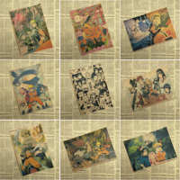 Naruto Vintage Retro anime poster anime Posters Uzumaki Poster Piece Bar Cafe Home Decor Wall Sticker