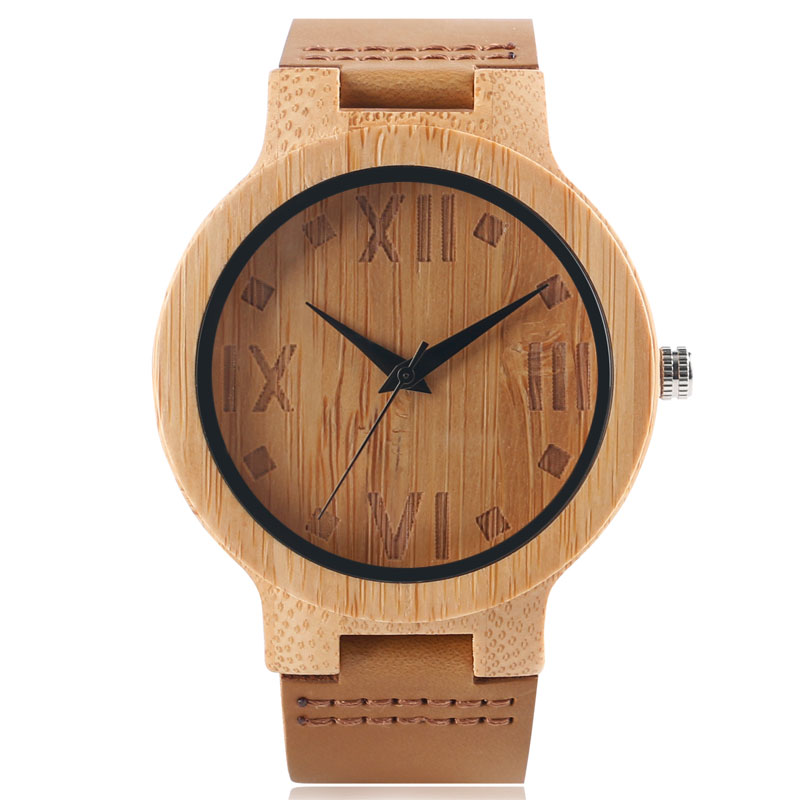 2017 New Arrival Women Men Wooden Wrist Watch Quartz Genuine Leather Band Strap Bamboo Handmade Nature Wood Minimalist Watch sexy women brazilian print halter bikini bathing suits swimsuit for girls high neck low waist bikinis push up swimwear