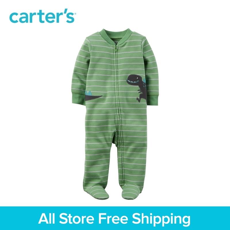 Carter's 1-peice baby children kids clothing boy Spring&Fall Cotton Zip-Up Sleep & Play  115G394