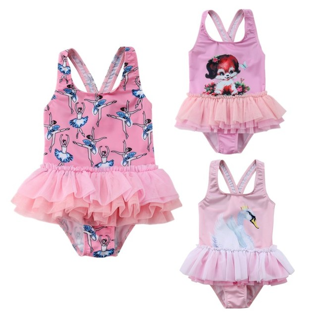 de141298fee10 Lovely Kids Baby Girl Lace Floral Tutu Dress Swimwear Swimsuit Skirt  Toddler Girls Summer Princess Bathing Suit Beachwear Bikini