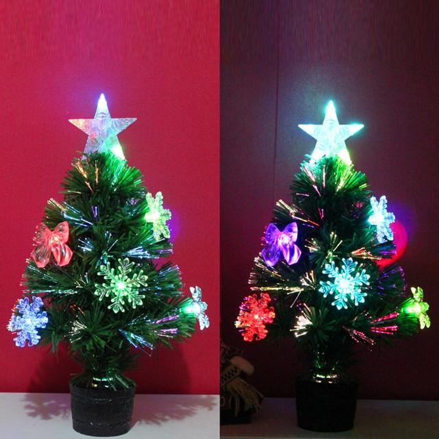 1 st 45 cm fiber multicolor kunstmatige kerstboom led verlichting voor thuis decor kids kerstcadeau nieuwjaar