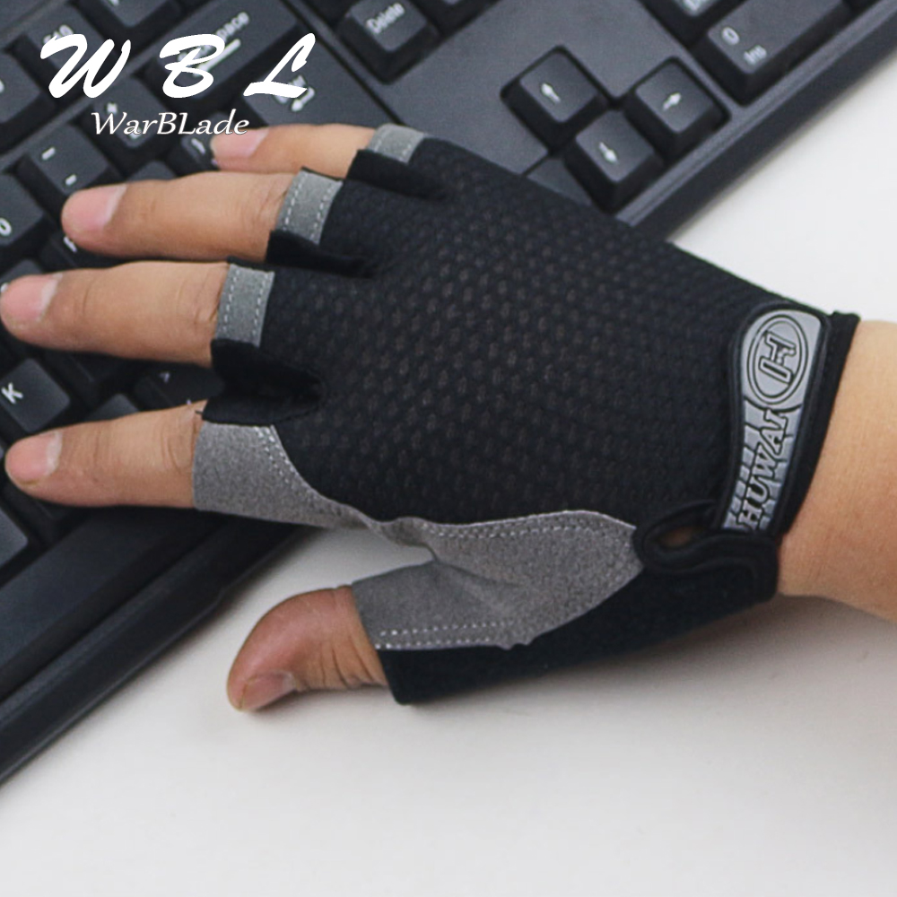 Gloves Breathable Half Finger Gel Pad Sport Gloves Summer Biking Fingerless Anti-slip Riding Wristbands Glove WarBLade
