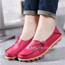 New Women Real Leather Shoes Moccasins Mother Loafers Soft Leisure Flats Female Driving Casual Footwear Size 35-41 In 20 Colors