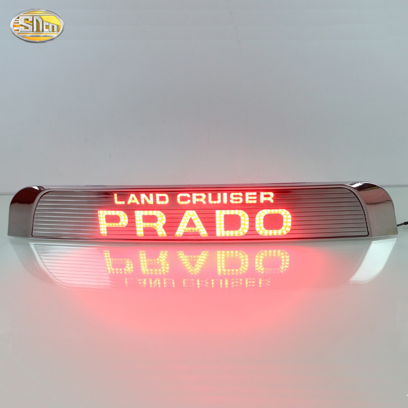 Led rear driving lights for Toyota Prado 2015 2016 Led Brake Lights rear bumper lamp warning Spare Wheel light car rear warning lamp for ford ecosport 2013 2015 external automobiles for anti collision rear end auto safe driving lights