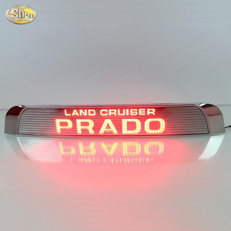 Led rear driving lights for Toyota Prado 2015 2016 Led Brake Lights rear bumper lamp warning Spare Wheel light