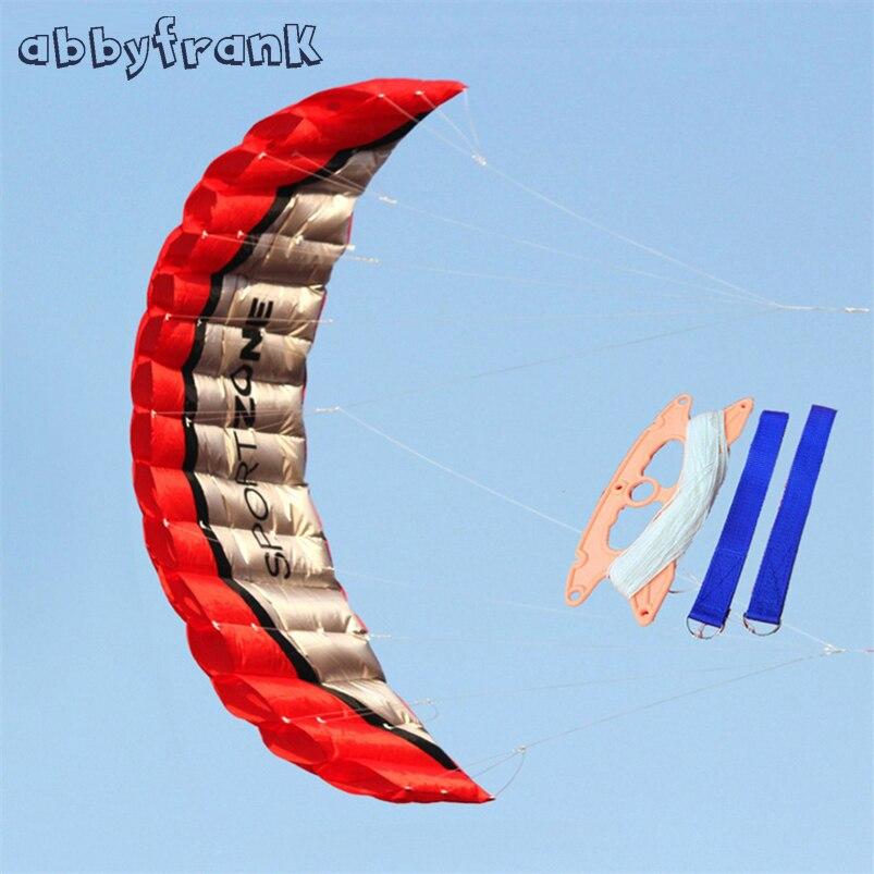 Abbyfrank Software Parachute Dual Line Beach Stunt Kite Accessories Nylon Sport Kite Portable Paragliding Kitesurf Sport Kid Toy