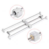 Linear Guide 13pcs 500mm CNC Parts Optical Axle Guide Bearing Housings Aluminum Rail Shaft Support Screws Set