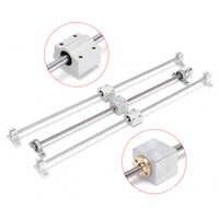 Linear Guide 13pcs 500mm CNC Parts Optical Axle Guide Bearing Housings Aluminum Rail Shaft Support Screws Set