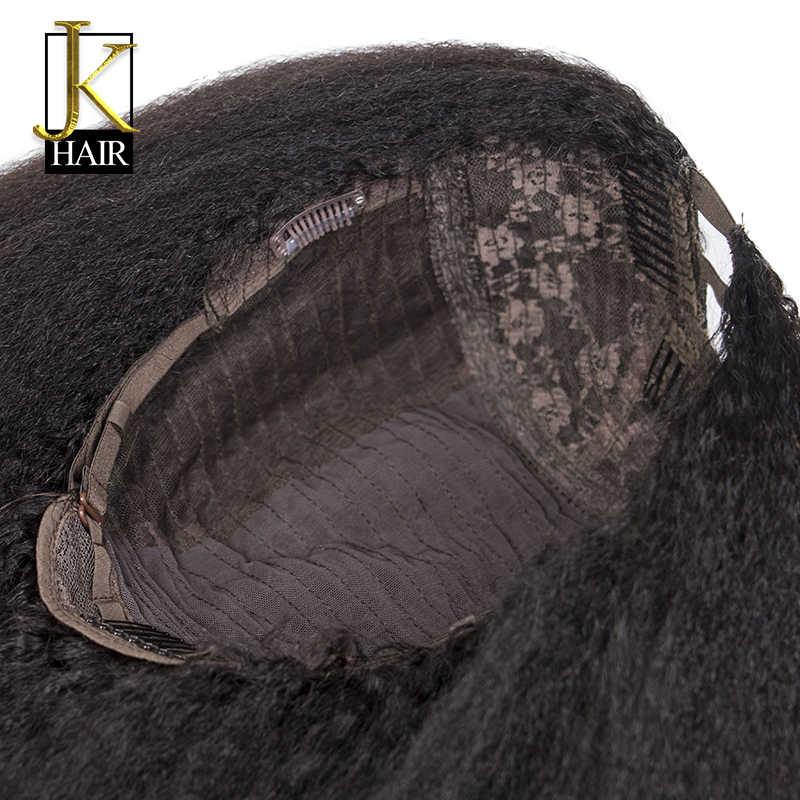 U часть парик Реми бразильский не Кружево Человеческие волосы Искусственные парики для Для женщин натуральный черный спереди легко сделать средняя часть или боковая часть JK волос