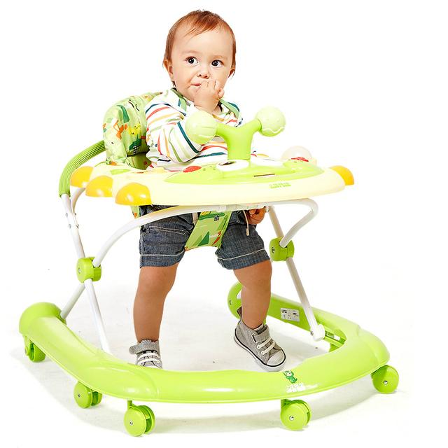 Nuevo Llega Niños Andador Andador Multifuncional Fácil Instalación Lateral Plegable Portátil
