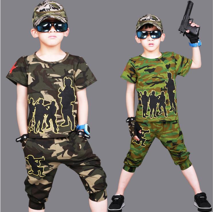 2017 Nuovi Bambini Di Estate Insieme Dei Vestiti Di Danza Hip Hop Ragazzi Del Vestito Del Camuffamento Prestazioni Del Costume Di Modo Di Pantaloncini E T-shirt Twinset