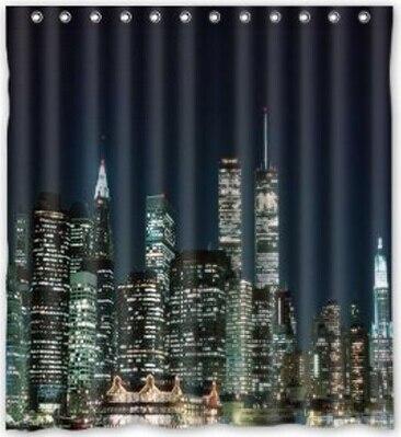 BravoVision Custom the Night View of New York Shower Curtain 60\