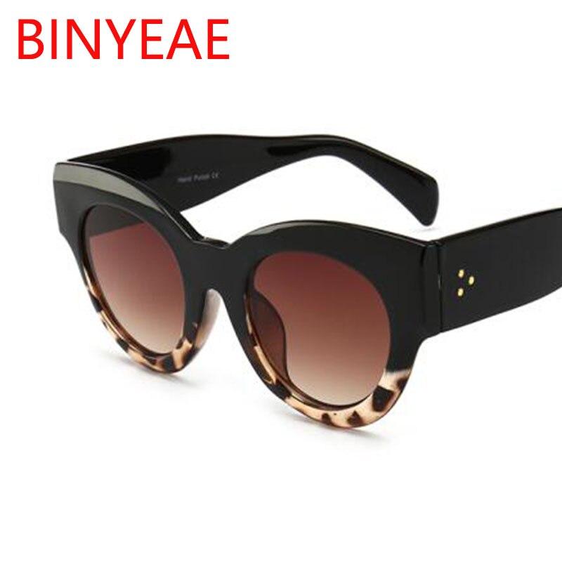 Dicken Rahmen Cat Eye Sonnenbrille Damen Sonnenbrille 2020 Luxus Vintage Schwarz Leopard Sonnenbrille Weiblichen Kreis Gläser Großen Rahmen
