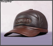 HARPPIHOP New Design Men's 100% Genuine Leather Cap /Newsboy /Beret /Cabbie Hat/ baseball HatS