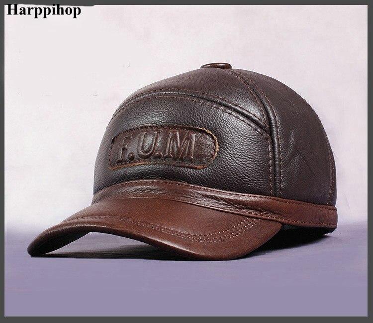 HARPPIHOP nouveau Design hommes 100% en cuir véritable casquette/gavroche/béret/Cabbie chapeau/baseball chapeaux