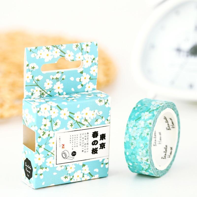 Spring Sakura Washi Tape Diy Decoration Scrapbooking Planner Masking Tape Adhesive Tape Label Sticker