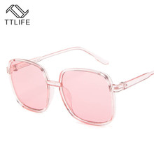 TTLIFE Oversized Champagne Sunglasses Women New 2019 Big Frame Sun Glasses Female Uv400 Protection Ocean Candy Ladies Shades