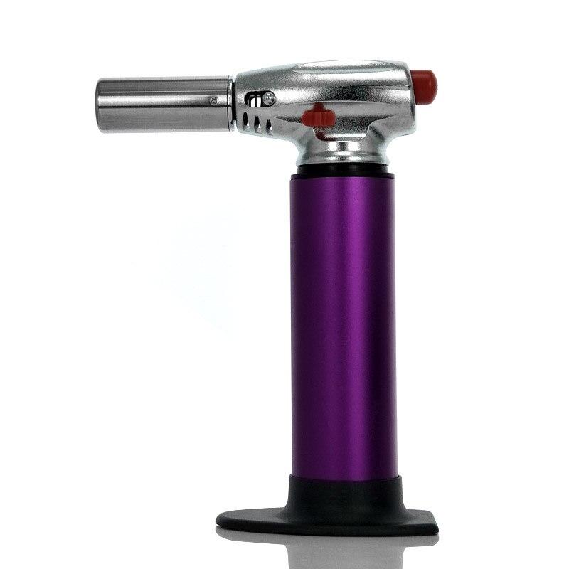 Bonne qualité coupe-vent Jet briquet spécial violet allume-cigare et flamme torche briquet pour BBQ cuisine, sans essence