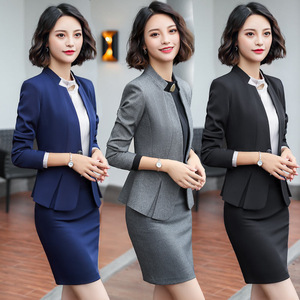 IZICFLY Formal Business Summer Clothes For Women Suits office Sets with Skirt Ensemble Femme 2 Pieces Pantalon Elegant Plus Size