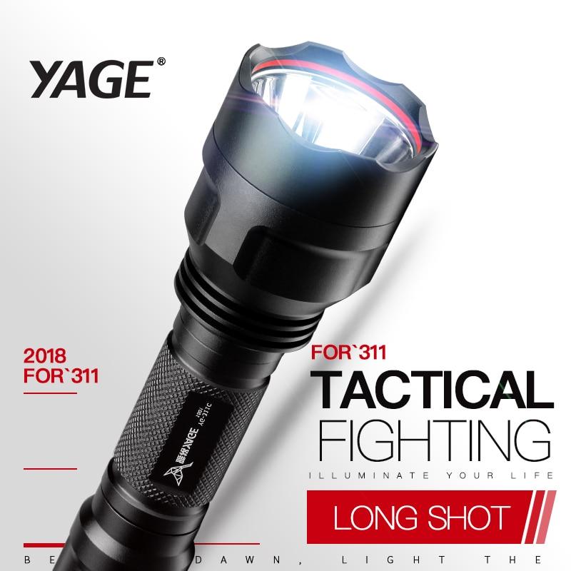 YAGE YG-311C lommelygte XP-E 500-1500LM selvforsvar cykling CREE LED lommelygte fakkel lys til 18650 genopladelig batterilampe