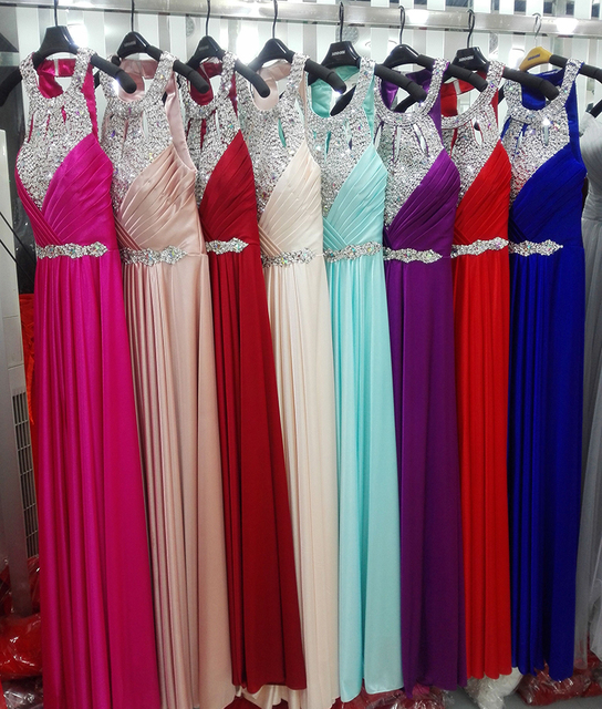 Evening Dress 2017 Free Shipping Floor-length Satin Sexy Formal Prom Party Gowns Elegant Long Evening Dresses