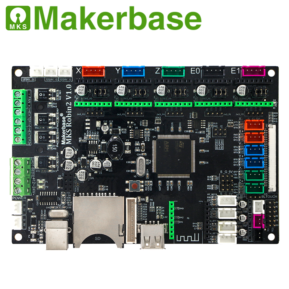 Image 2 - MAKERBASE STM32 MKS Robin2 mother board.Open source hardware convenient for develop and set up  .with 3.5 inches TFT display tha-in 3D Printer Parts & Accessories from Computer & Office