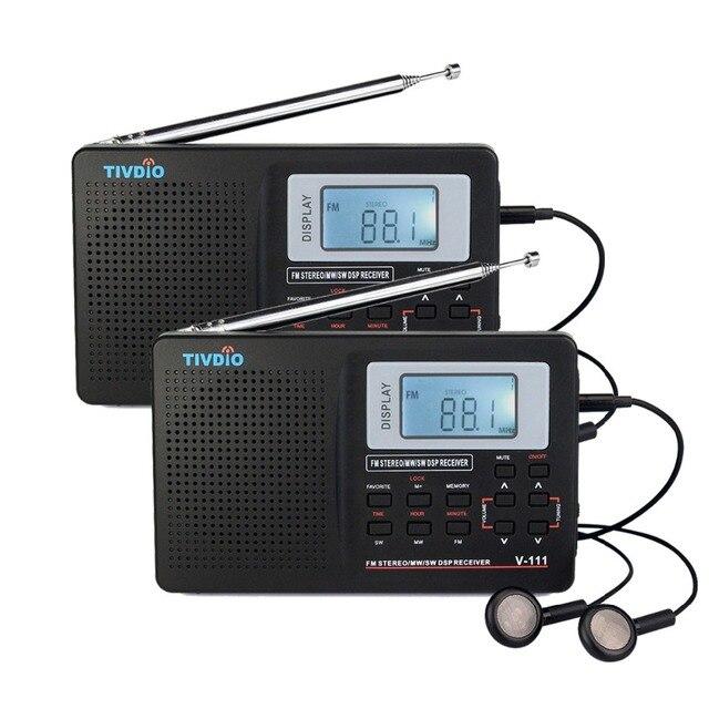 2 шт. Радио FM DSP Стерео FM/MW/SW/LW радио Full Band Мир Приемник Часы и Будильник 9 КГц/10 КГц Radio Recorder F9201