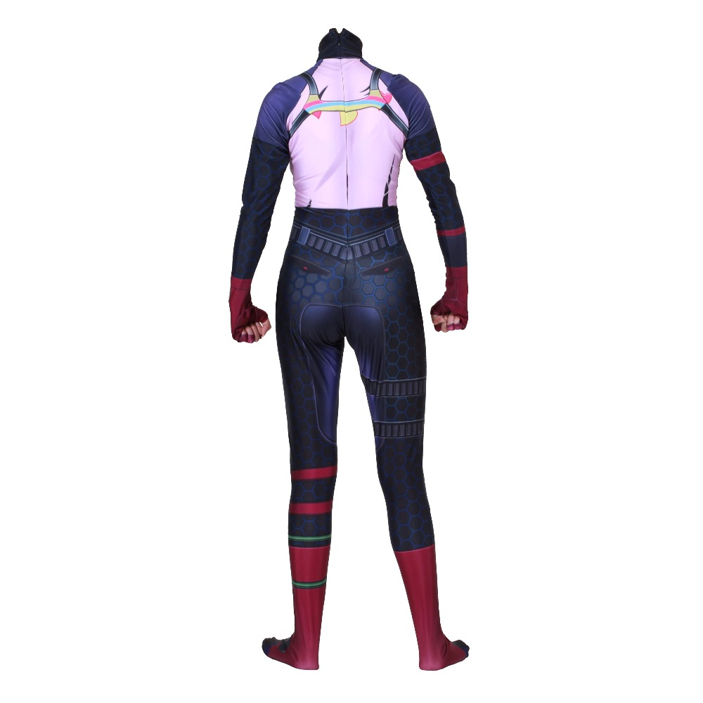 Women Kids Game Cosplay Costume Brite Bomber Rainbow Horse Zentai Bodysuit Suit Jumpsuits in Game Costumes from Novelty Special Use