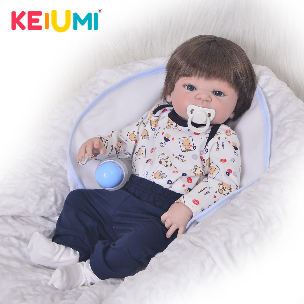 KEIUMI Reborn Dolls 23 57 cm Silicone Full Body Red Skin Synthetic Hair Fashion Doll Babies Real Born Toy Child Birthday Gifts
