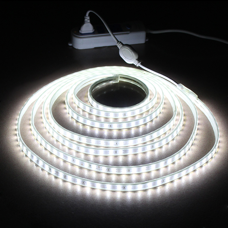 LAIMAIK Waterproof LED Strip IP65 LED Tape 120 LEDs/M String Lights SMD2835 Flexible Light Garden Lamp Two Row LED Strips 220V