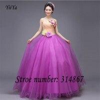 Ücretsiz kargo yiiya yeni yeşil mor prenses ucuz straplez gelinlik lace up tasarım vestidos de novia cs912 frocks