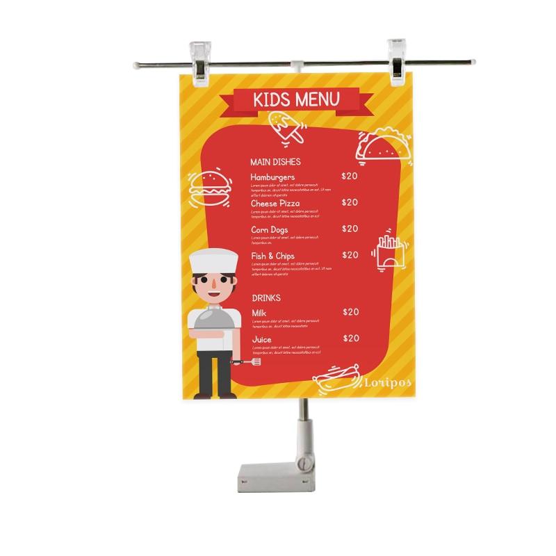 Adjustable Height Poster Display clip magnetic Banner holder Stand Poster Table top metal shelf magnet sign holder flag clip