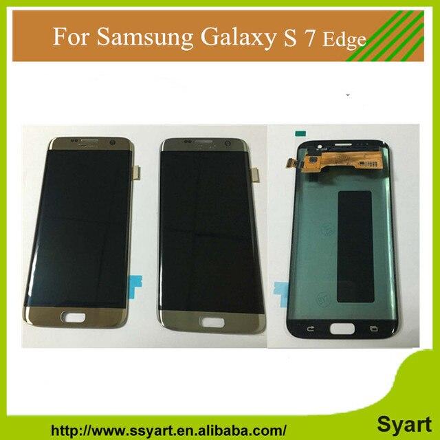 100% testado display lcd para samsung galaxy s7 edge g935 g935f g935a g935fd tela lcd touch substituição digitador assembléia dhl