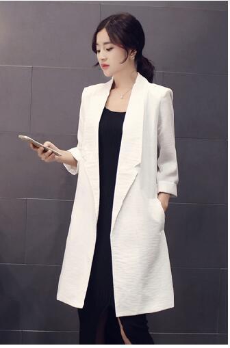 Бесплатная доставка 2016 осень зима Мода женщина пальто открытым стежка отложным воротником Среднего Стиль тощий белье женщина trenth H24