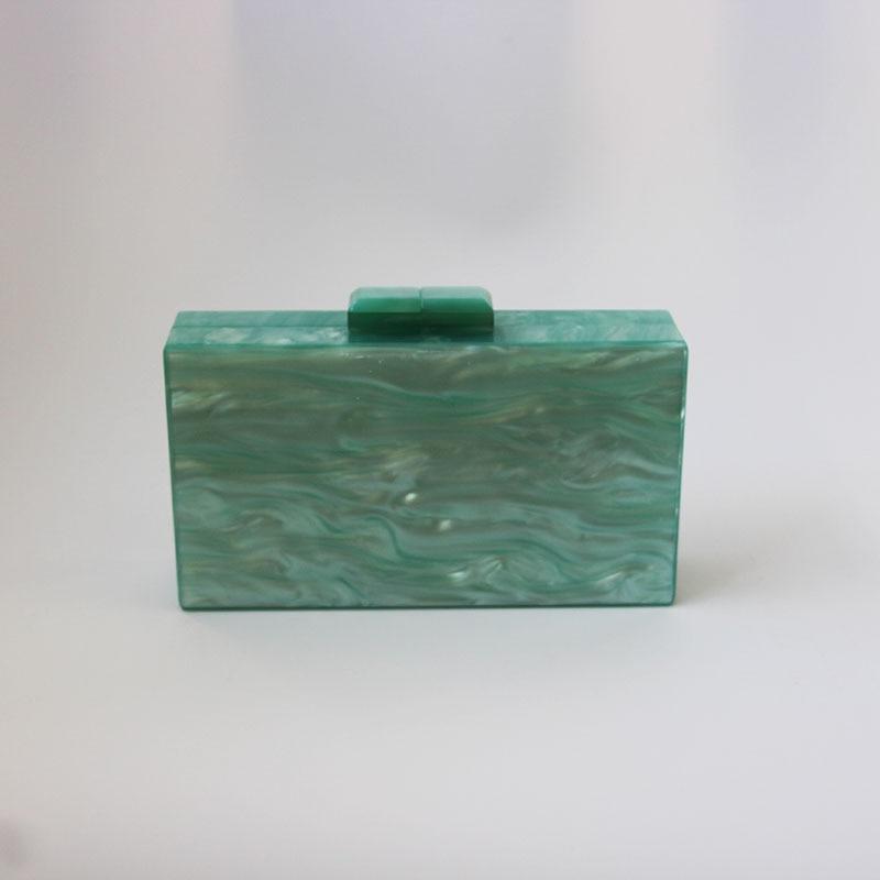 Green Pearl Bolsa Feninina Acrylic Clutch Travel Handbag Beach Luxury Handbags Women Bags Designer Shopping Messenger Small Bags