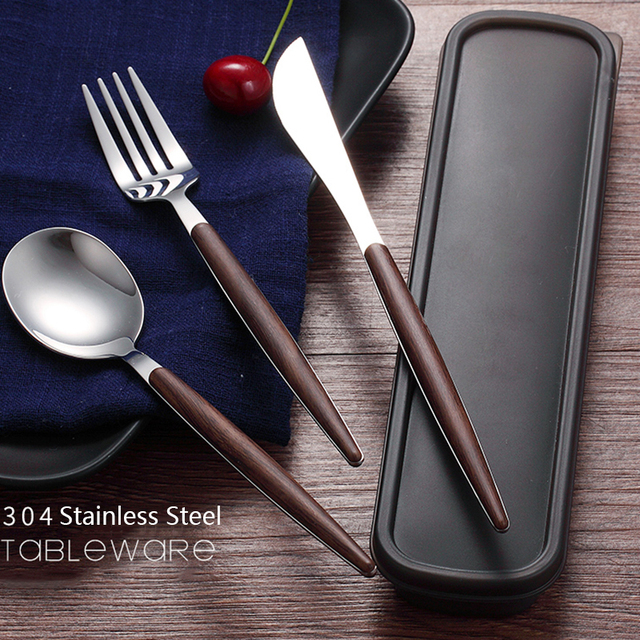 Hoomall Stainless Steel Dinnerware Set With Box Western Style Kitchen Home Cutlery Tableware Dinner Party Wedding & Hoomall Stainless Steel Dinnerware Set With Box Western Style ...