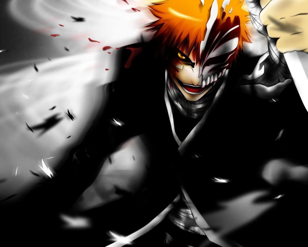 P1372 Anime Bleach Home Decor Poster Hollow Ichigo Wallpaper Print 40x60cm Giant Canvas In Painting Calligraphy From
